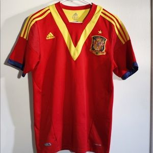2013-2014 Adidas Spain Soccer Jersey UNISEX
